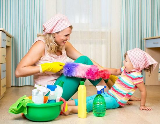 Уборка в доме, где есть ребенок