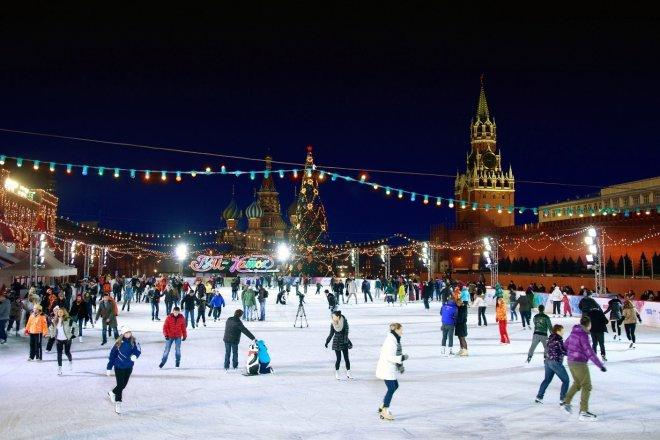 Когда открывается каток на Красной площади в 2016-2017