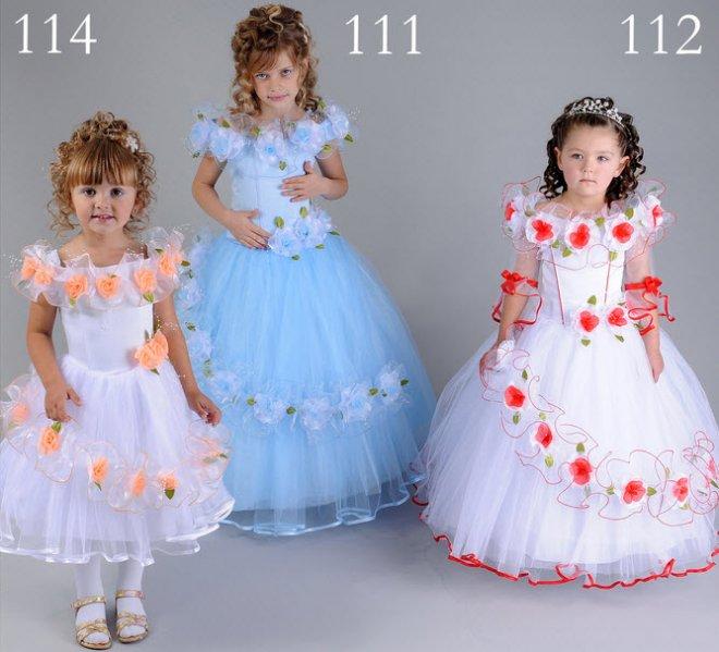 Платья детские новогодние
