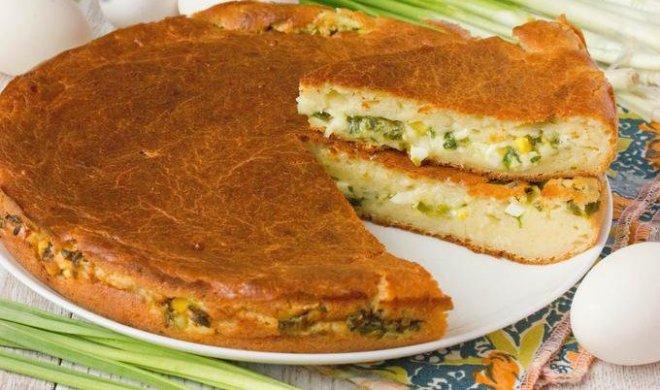 Пирог на кефире с луком и яйцом в мультиварке рецепты