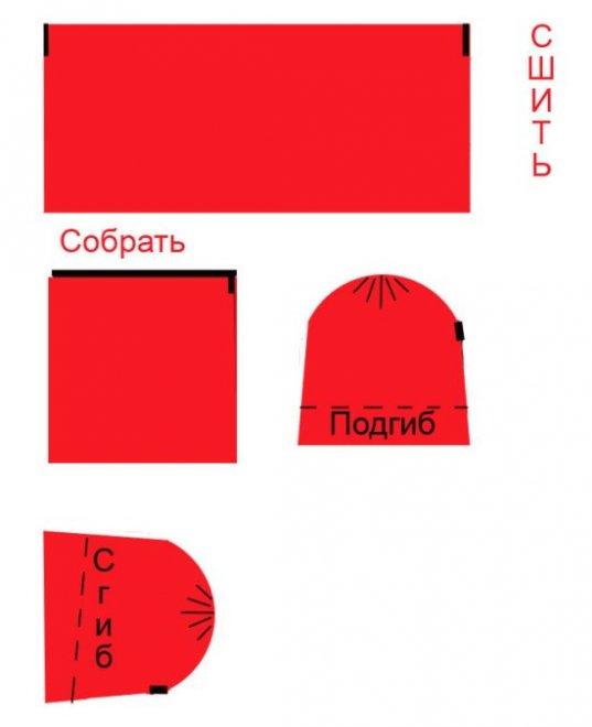 выкройка для костюма красной шапочки