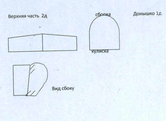 выкройка головного убора для красной шапочки