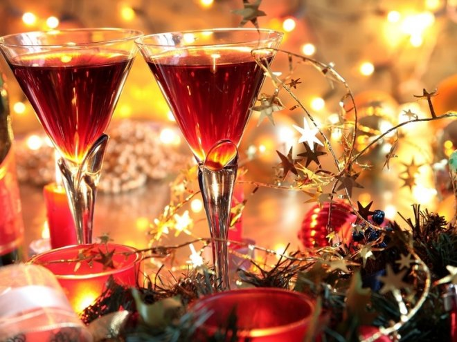 новогоднее вино