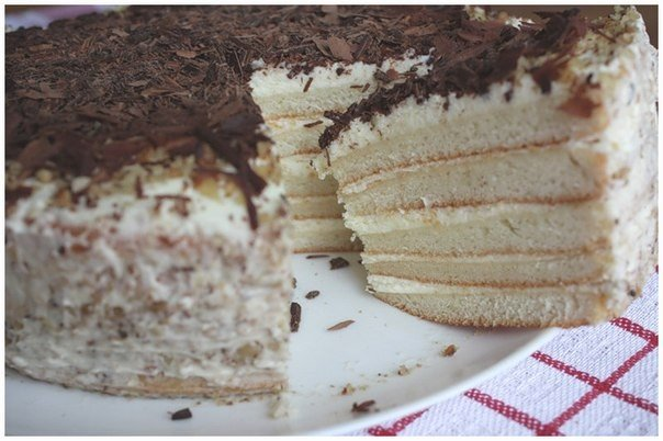 Коржи на кефире для торта