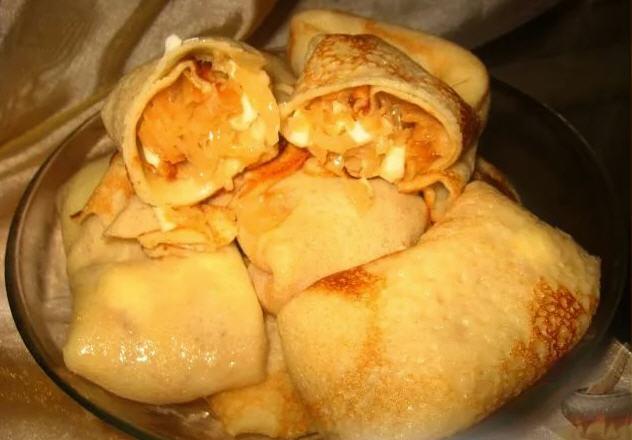 Блинчики с начинкой из картофеля или капусты