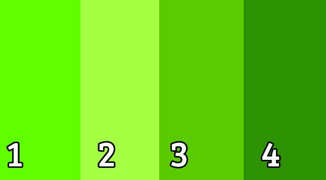 оттенки зеленого