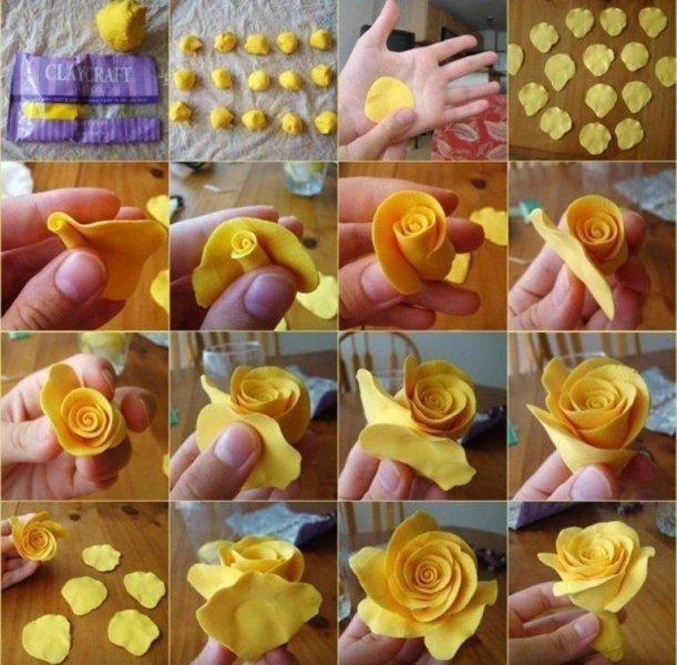 как создать розу из холодного фарфора