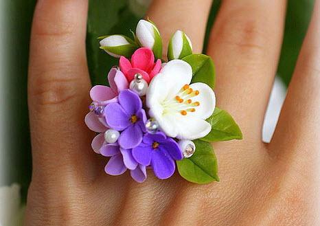 кольцо из холодного фарфора своими руками