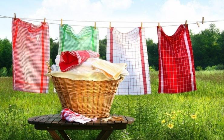Как отбелить кухонные полотенца без кипячения