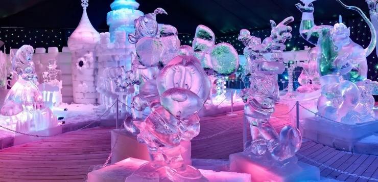 Выставка ледяных скульптур в Москве 2018