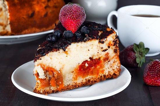пирог из творога с начинкой
