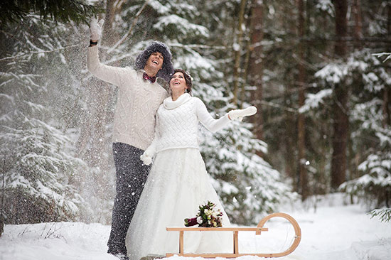 Плюсы и минусы проведения свадьбы в холодное время года