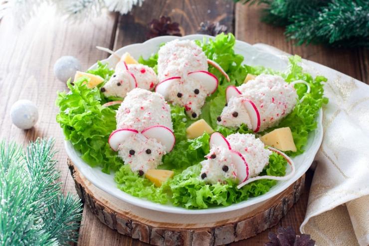 Новогодние салаты в год крысы