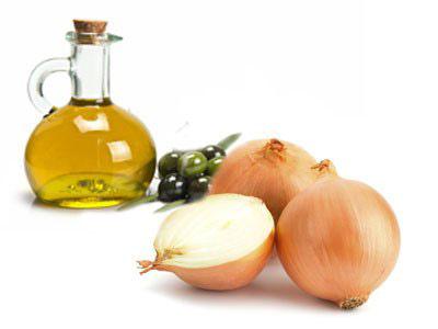 Луковая маска c оливковым маслом