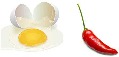 Маска со смесью перцев и желтком