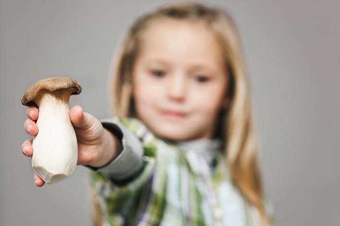 грибы в детском рационе